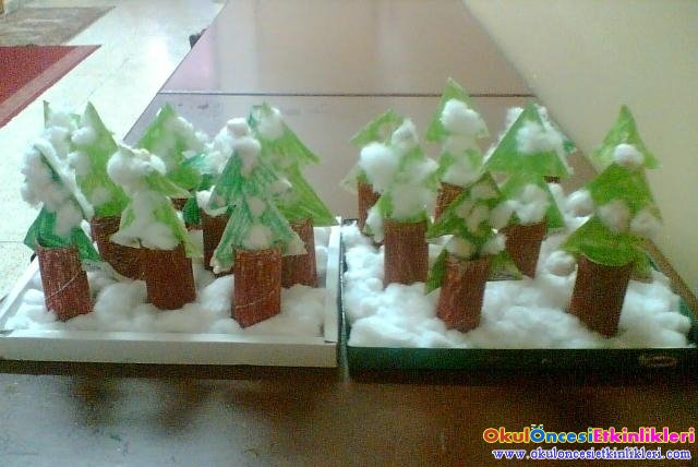 Kis Mevsiminde Cam Agaci Yapalim Okul Oncesi Etkinlikleri