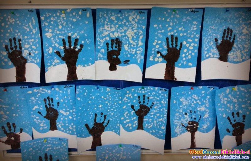 Kar Manzarasi Okul Oncesi Etkinlikleri Hayallerinizi