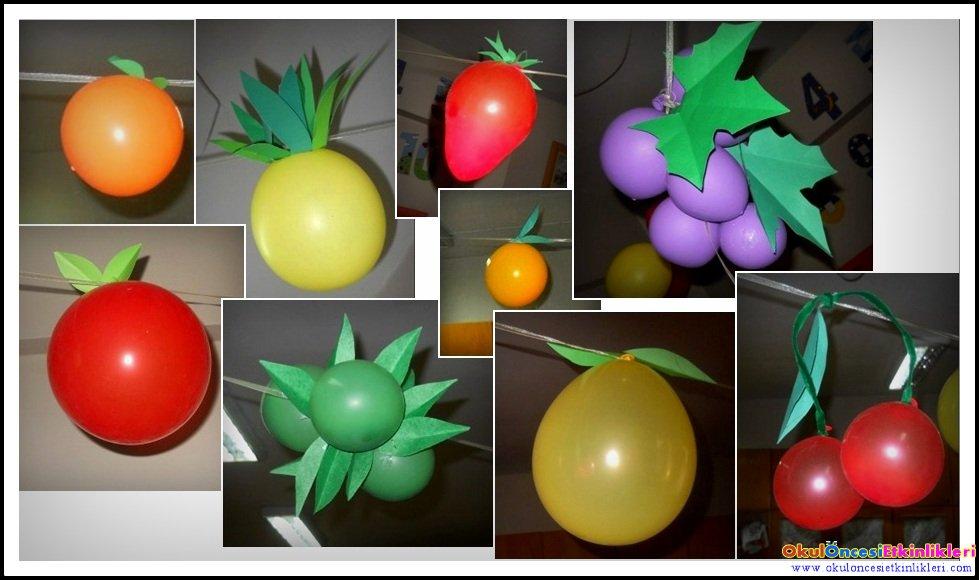 Balondan Meyve Yapalım Okul öncesi Etkinlikleri Hayallerinizi