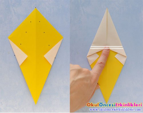 Origami Sanati Ile Kulahta Dondurma Yapalim Okul Oncesi