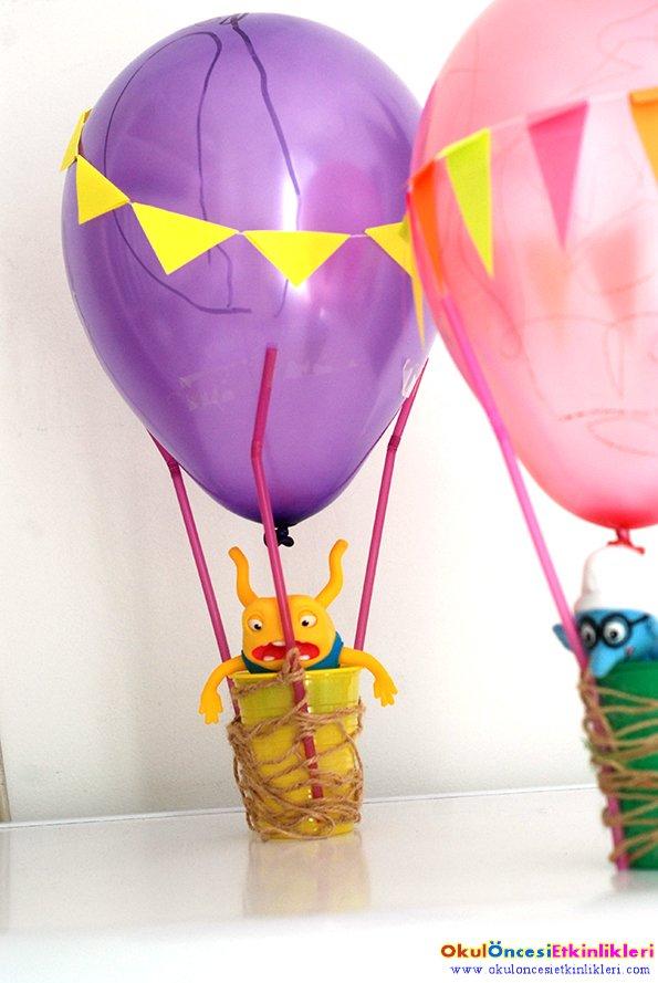 Ucan Balon Yapalim Okul Oncesi Etkinlikleri Hayallerinizi