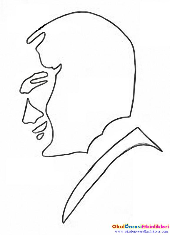 Kuru Cay Ile Ataturk Portresi Yapalim Kalipli Okul Oncesi