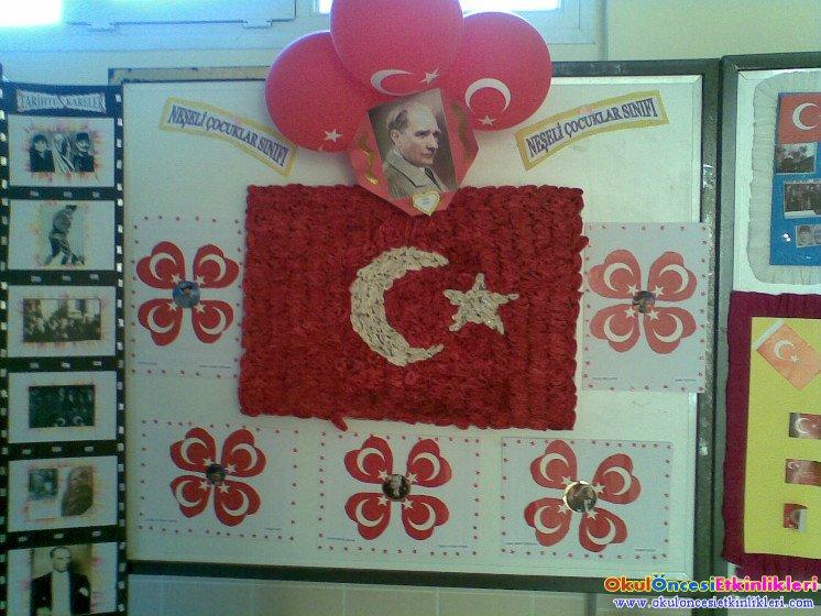 29 Ekim Cumhuriyet Icin Ataturk Kosesi Okul Oncesi Etkinlikleri
