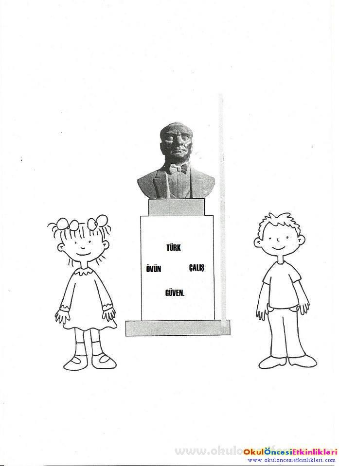 10 Kasım Atatürkü Anıyoruz Okul öncesi Etkinlikleri