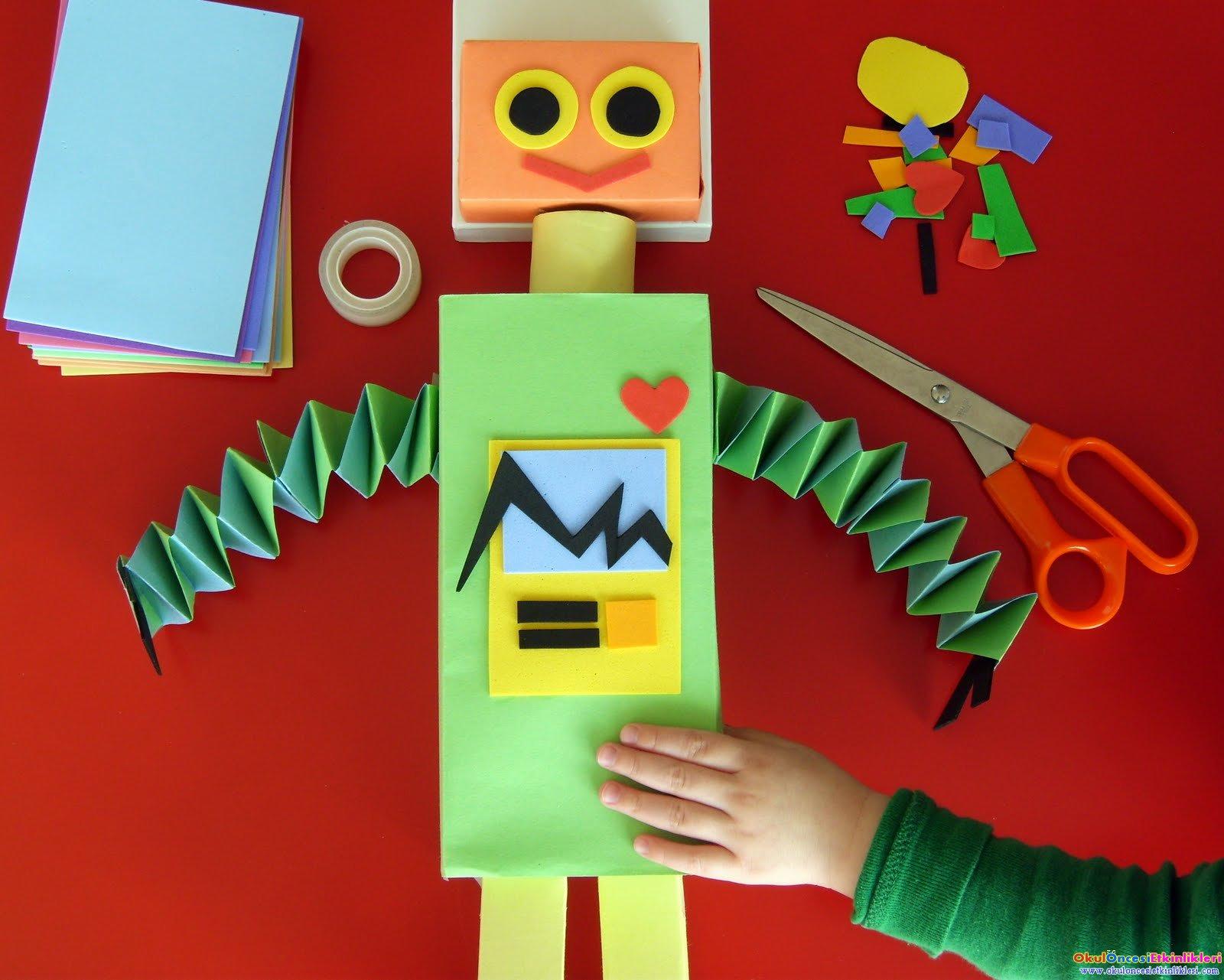 Как сделать для детей роботу
