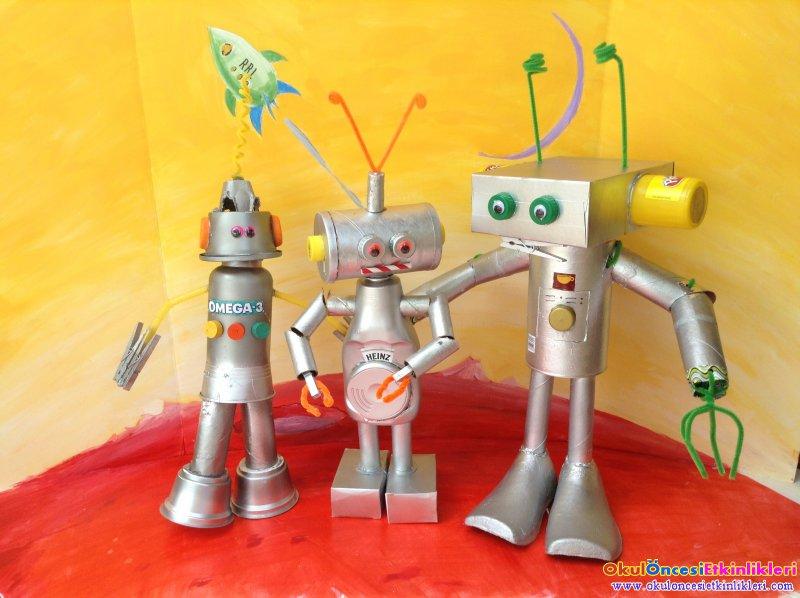Okul Oncesi Robot Yapimi Ornekleri Okul Oncesi Etkinlikleri