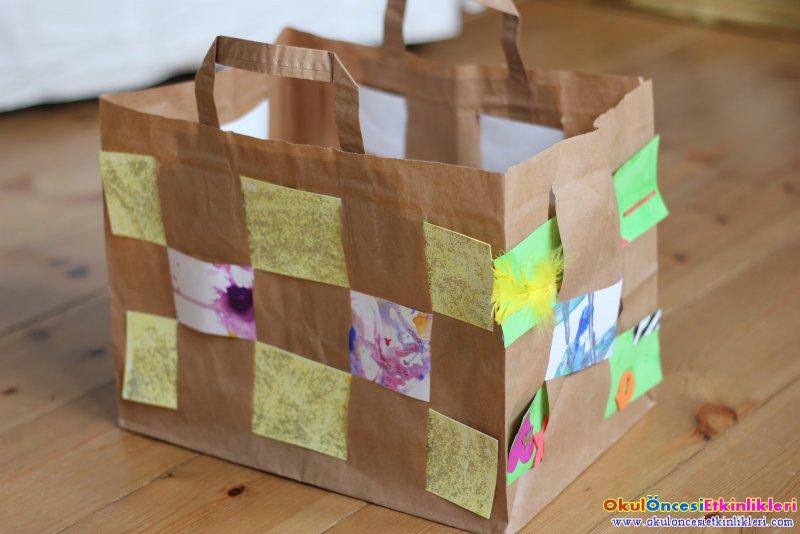 Basket Weaving Using A Paper Cup : Okul ?ncesi ka t dokuma ?nces etk nl kler
