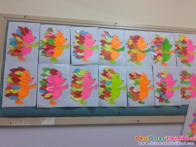 Rengarenk Kirpi Sanat Etkinligi Okul Oncesi Etkinlikleri