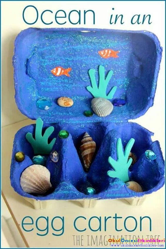 Yumurta Kolisinden Deniz Alti Okul Oncesi Etkinlikleri
