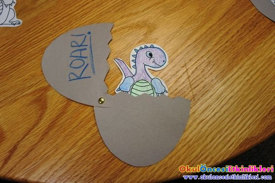 Yumurtadan Cikan Dinozor Sanat Etkinligi Okul Oncesi