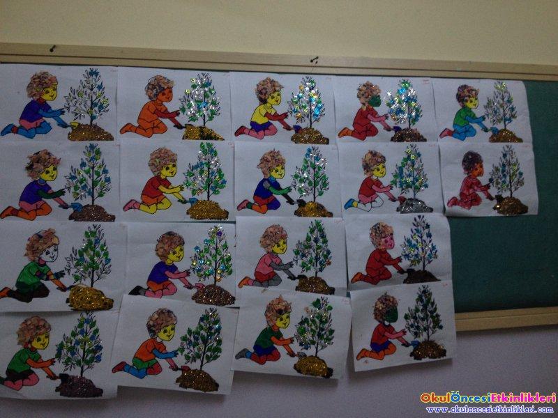 Orman Haftasi Fidan Diken Cocuk Etkinligi Okul Oncesi