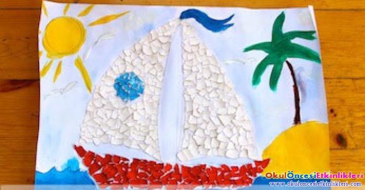 Bir Yumurta Kabugundan Mozaik Okul Oncesi Etkinlikleri
