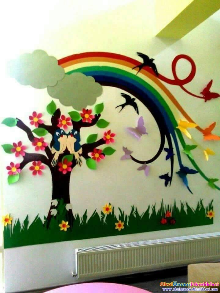 S n f m zdan s s rnekleri ve dekoru okul nces for Decoracion primavera manualidades