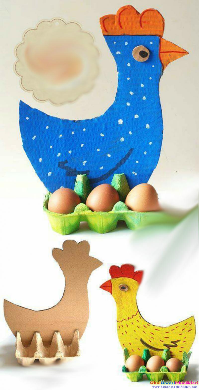 Tavuk Ve Yumurta Kolisi Kagit Isleri Okul Oncesi Etkinlikleri